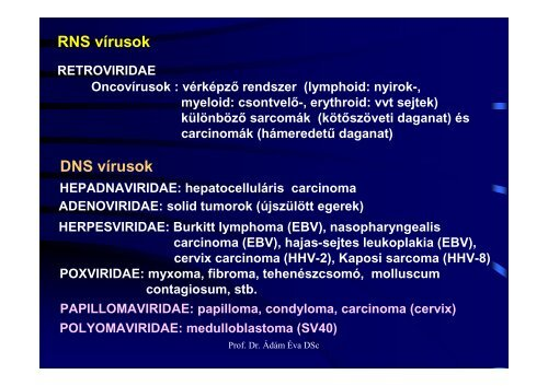 humán papillomavírus retrovírusok