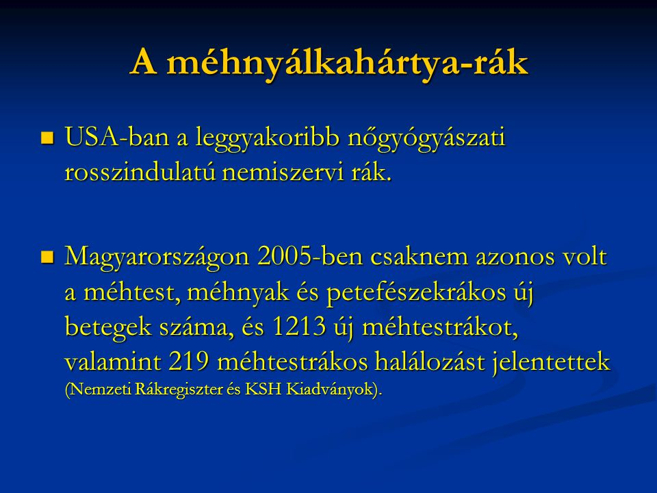 endometrium rák sugárterápia)