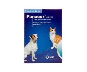 panacur giardia hond