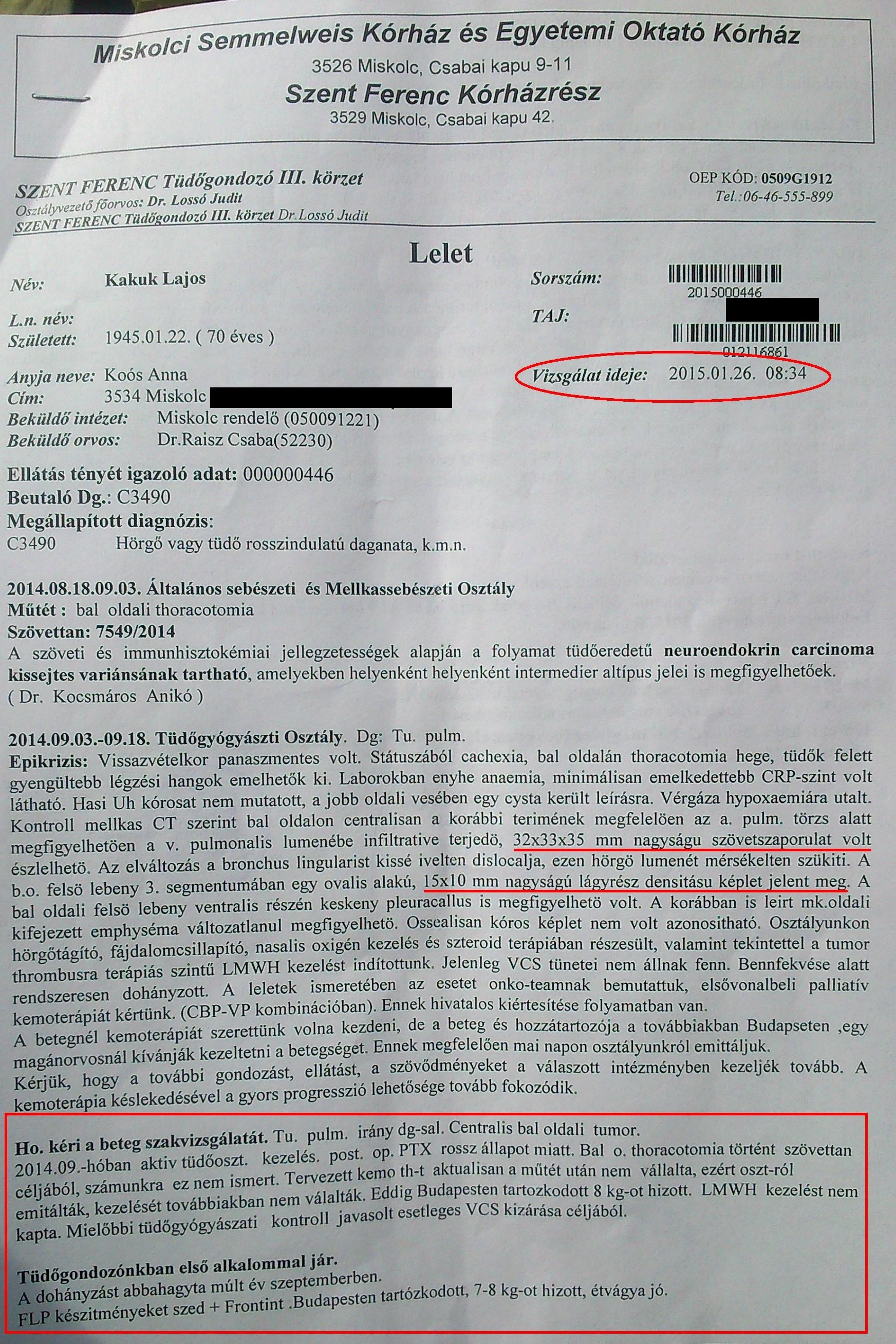 neuroendokrin rákos vizsgálatok)