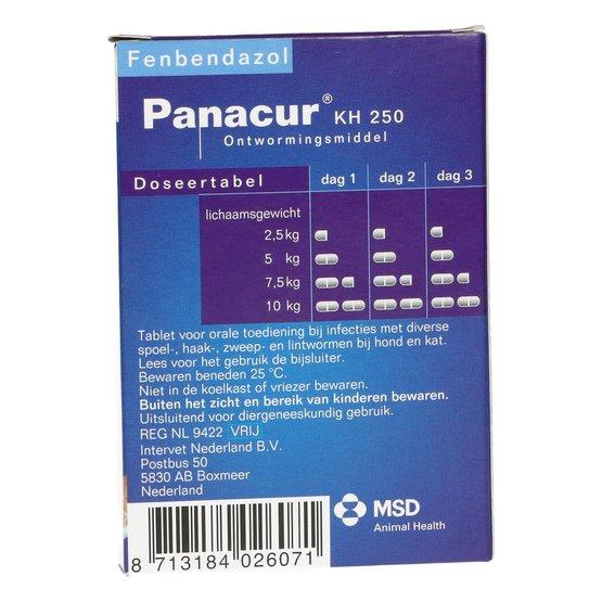 panacur giardia hond)