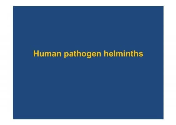 helminthiasis galandféreg)
