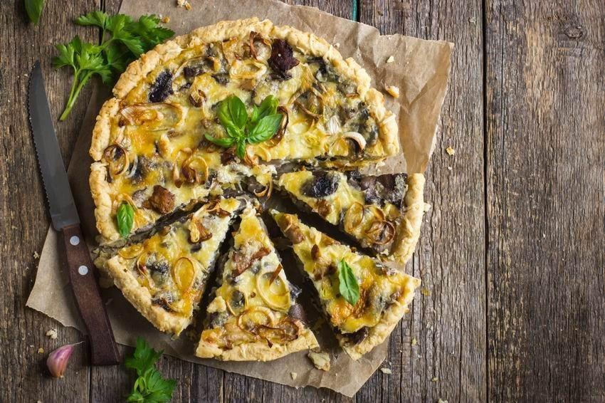 Quiche gombákkal és baconnel, az ősz kedvenc pitéje