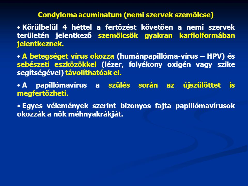 humán papilloma vírus vírusellenes