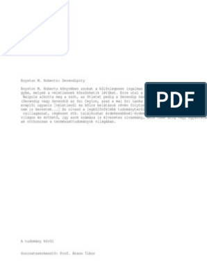 Royston M. Roberts: Serendipity - PDF Free Download