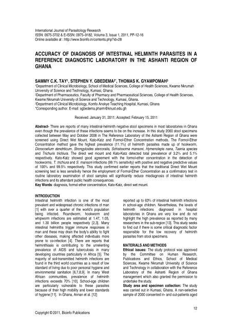 helmint diagnózis)
