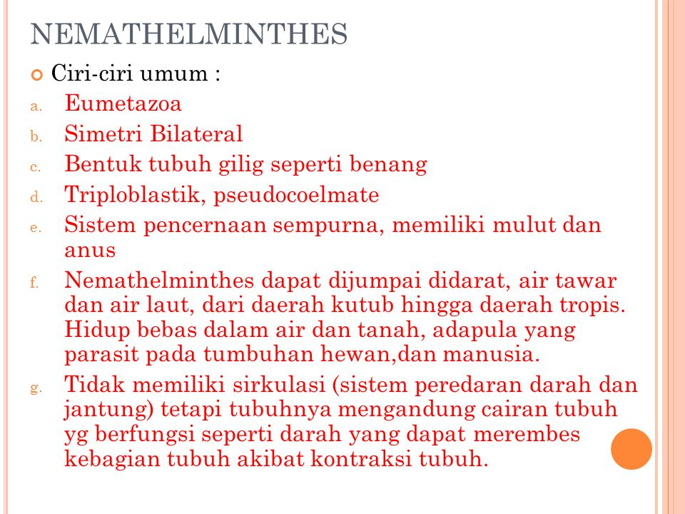 les nemathelminthes ppt)