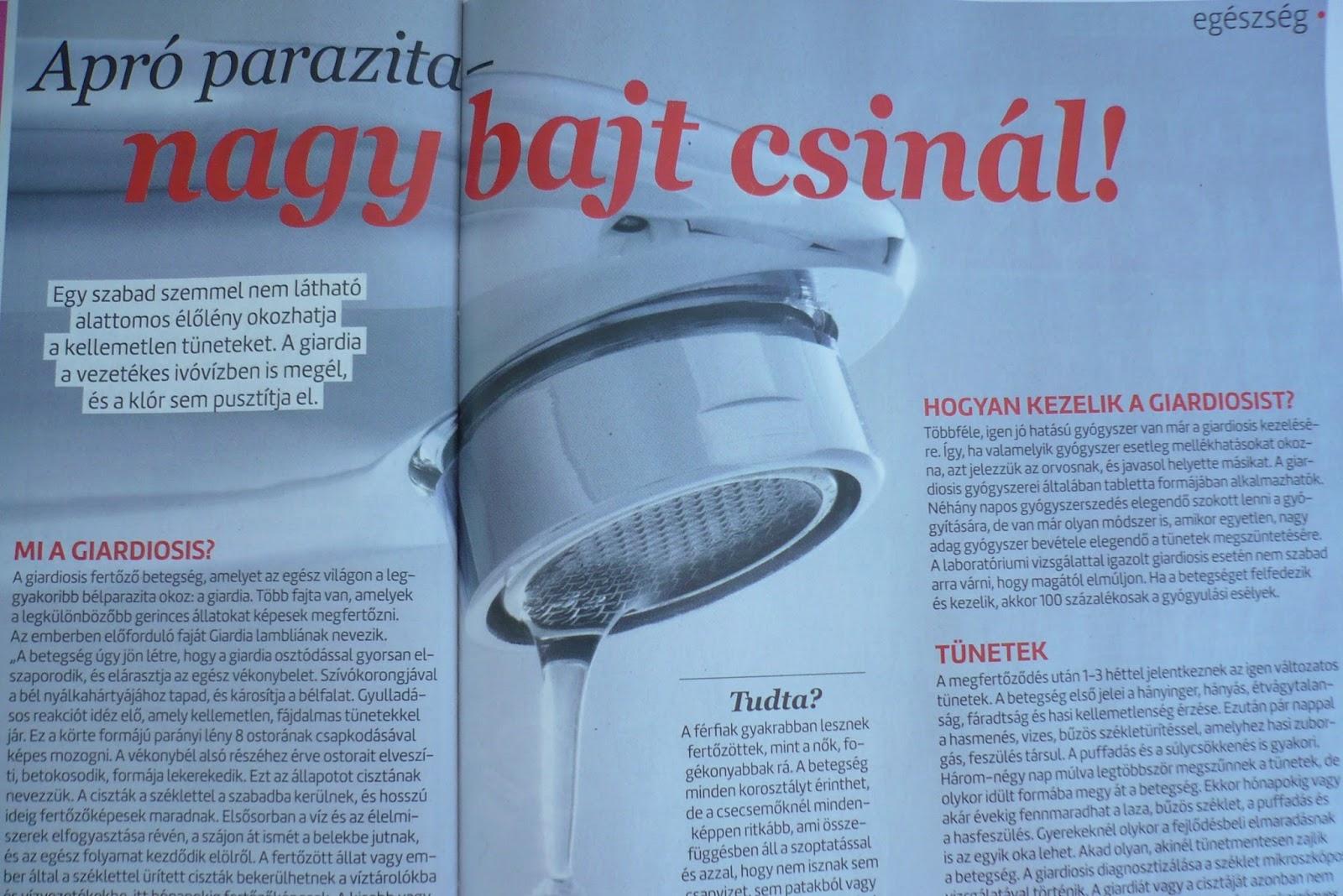 giardia parazita az emberek kezelésében)