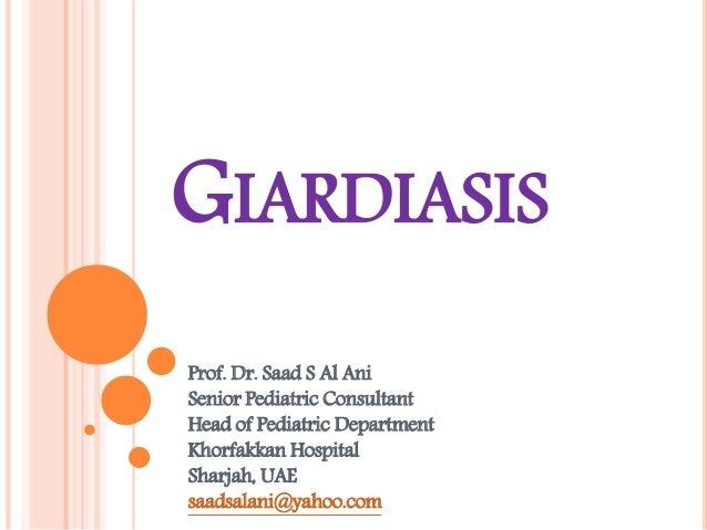 gastroenteritis giardiasis