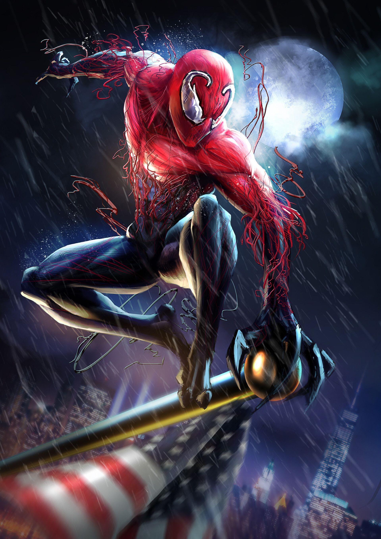 Toxin by Clayton Crain * | Toxin marvel, Marvel comics art, Comic book artwork