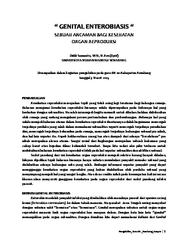 enterobiosis kabinet)
