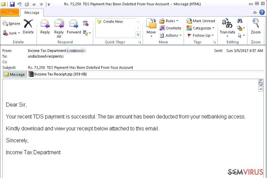e-mail vírus