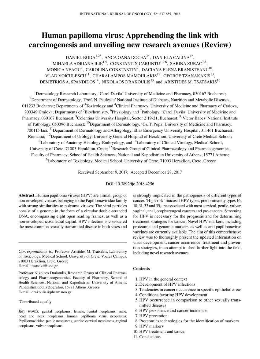 humán papilloma vírus mint s