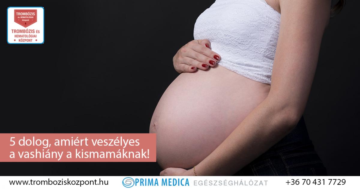 enyhe vérszegénység terhesség alatt