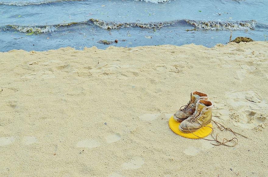 cipő, magányos, Romanshorn, kenusok, bank, szikla, téli, tóállomány, víz | Pikist