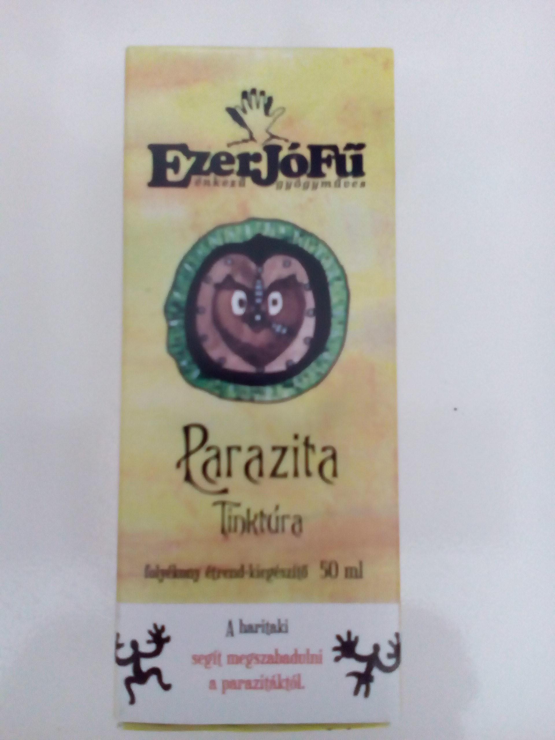 parazita tablettákból készült csillár tinktúra)